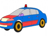 Old Model Police Car Coloring