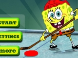 Spongebob Play Ice Hockey