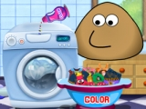 Pou Washing Lothes