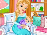 Frozen Elsa Gived Birth